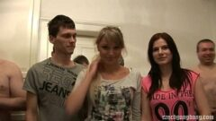 GIRLFRIEND AND HER SISTER GET FUCKED AT CZECH GANG BANG 5 min 720p