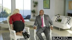 BLACKED Business Blonde Anikka Albrite Ass Fucked By a BBC 11 min 720p