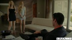 VIXEN.com Rich Boss Gets Threesome with Two Blondes 12 min 720p