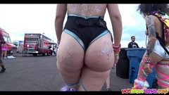 Huge Ass raver babe getting spied with hidden close-up cam 11 min 1440p