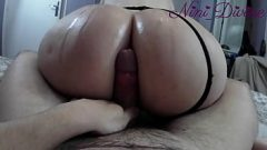 Assjob with the huge oiled ass of my step-sister passing through my house! 8 min 1080p